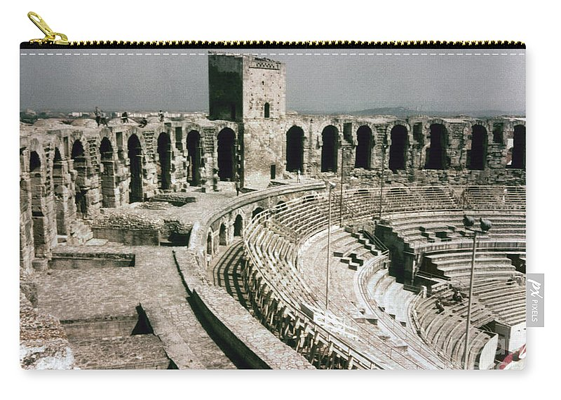 1st Century Carry-all Pouch featuring the photograph Roman Amphitheatre, Arles by Granger
