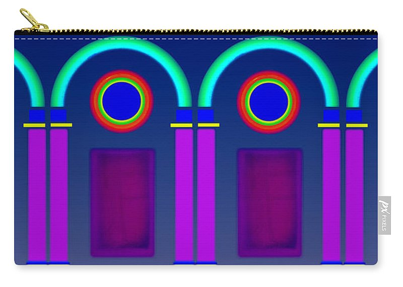 Classical Carry-all Pouch featuring the digital art Roman Architecture by Charles Stuart