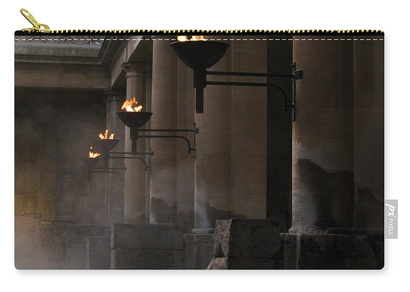 Bath Carry-all Pouch featuring the photograph Roman Baths by Amanda Barcon