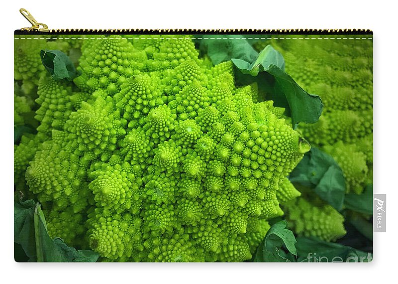 Color Carry-all Pouch featuring the photograph Roman Cauliflower by Mikael Holmgren