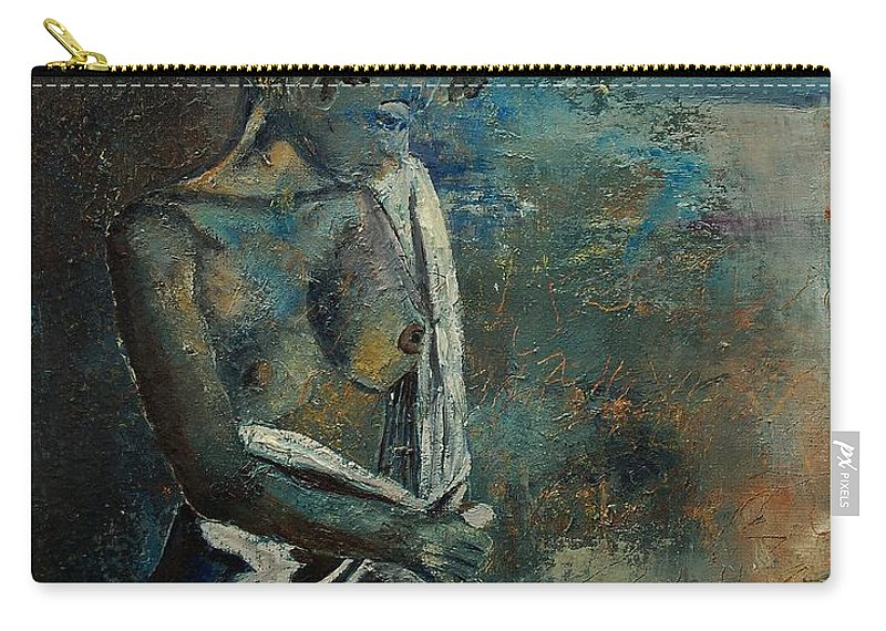 Nude Carry-all Pouch featuring the painting Roman Nude 45 by Pol Ledent