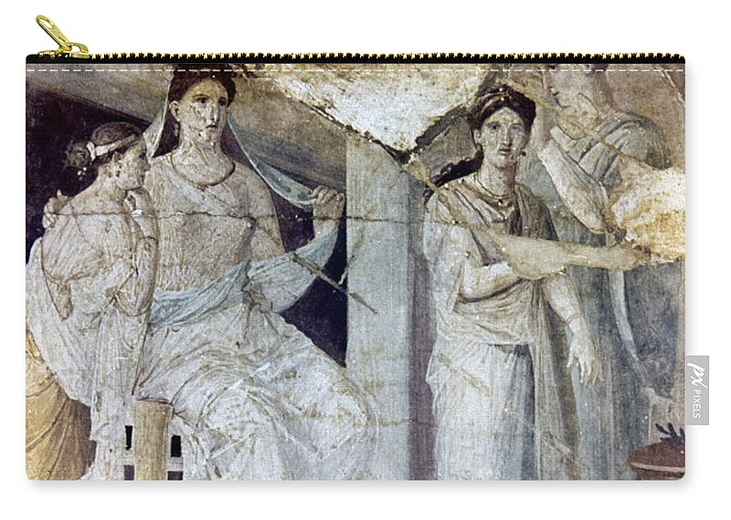 Ancient Carry-all Pouch featuring the photograph Roman Toilette Scene by Granger