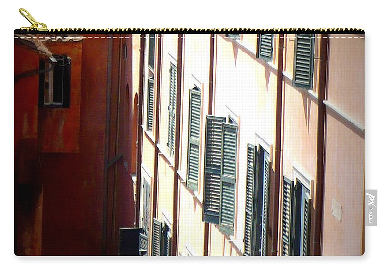 Rome Carry-all Pouch featuring the photograph Roman Windows by Carol Groenen