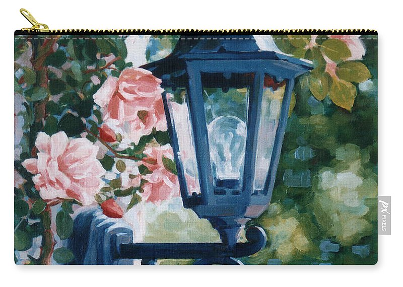 Roses Carry-all Pouch featuring the painting Romantic Fragrance by Iliyan Bozhanov