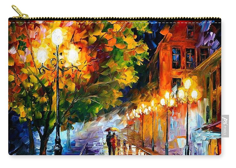 Afremov Carry-all Pouch featuring the painting Romantic Night by Leonid Afremov