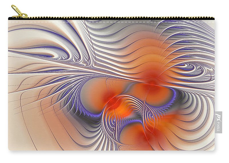Digital Carry-all Pouch featuring the digital art Romantic Sensual Lines by Deborah Benoit