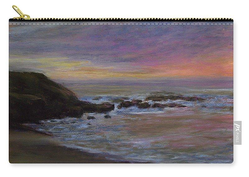 Landscape Carry-all Pouch featuring the pastel Romantic Shore by Susan Jenkins