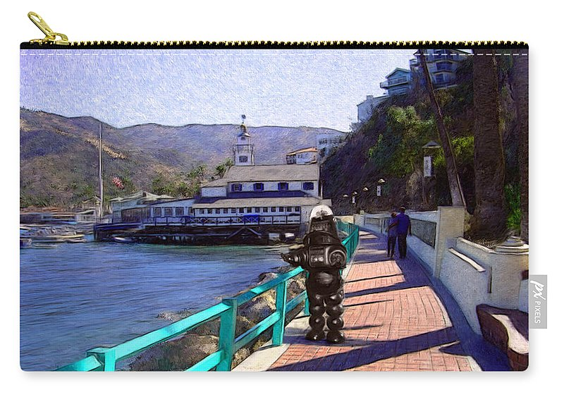 Catalina Carry-all Pouch featuring the digital art Romantic Stroll by Snake Jagger
