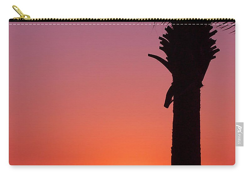Sunsets Carry-all Pouch featuring the photograph Romantic Sunset by Susanne Van Hulst