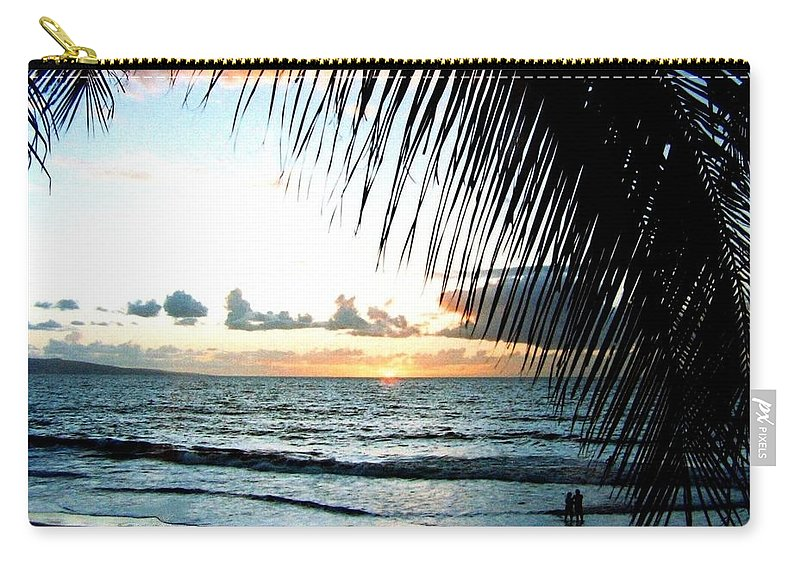 1986 Carry-all Pouch featuring the photograph Romantic Sunset by Will Borden