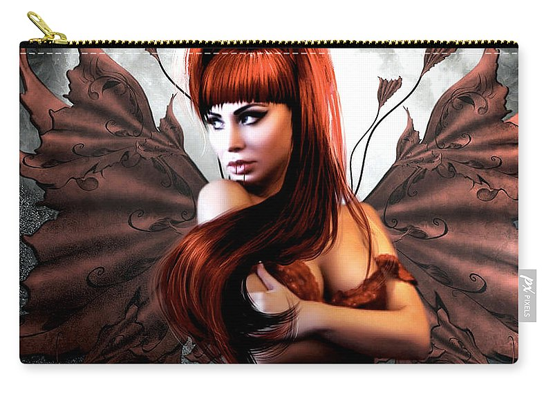 Vampire Carry-all Pouch featuring the mixed media Romantic Vampire's Moon 002 by G Berry