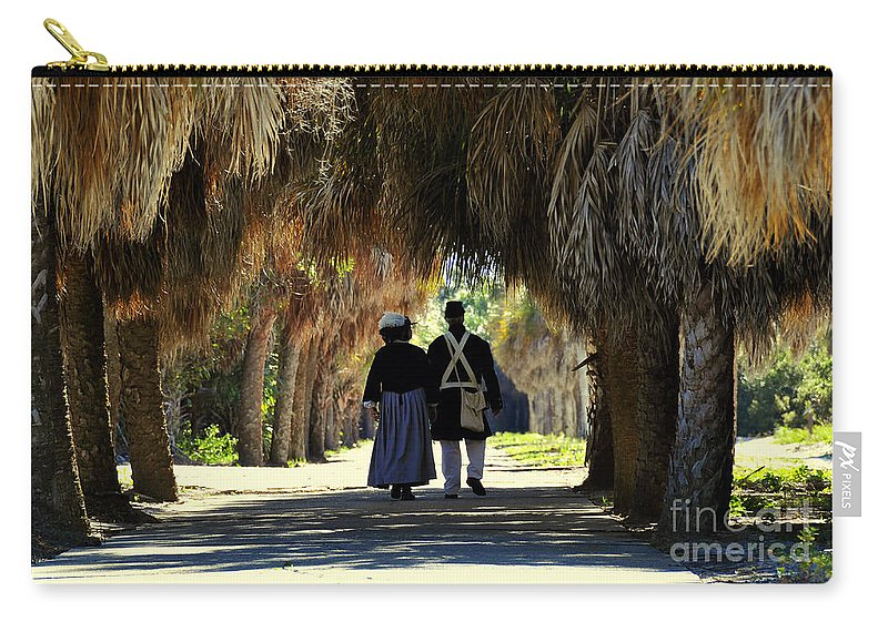 Fine Art Photography Carry-all Pouch featuring the photograph Romantic Walk 1870 by David Lee Thompson