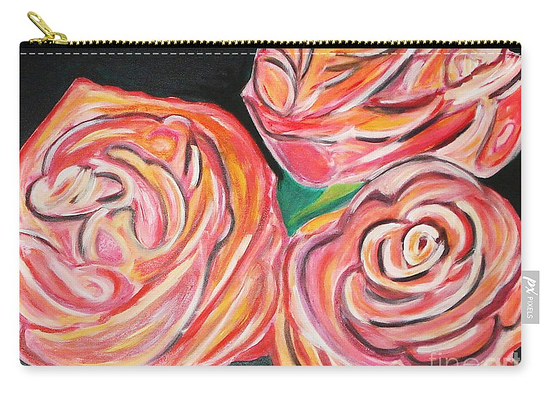 Acrylic Painting Carry-all Pouch featuring the painting Romantic by Yael VanGruber