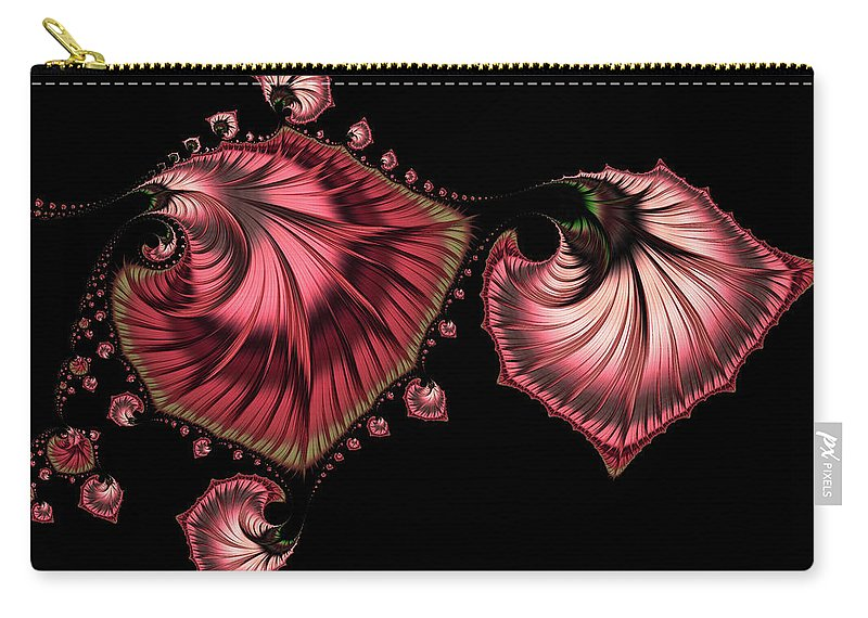 Romantically Jewelled Carry-all Pouch featuring the digital art Romantically Jewelled Abstract by Georgiana Romanovna
