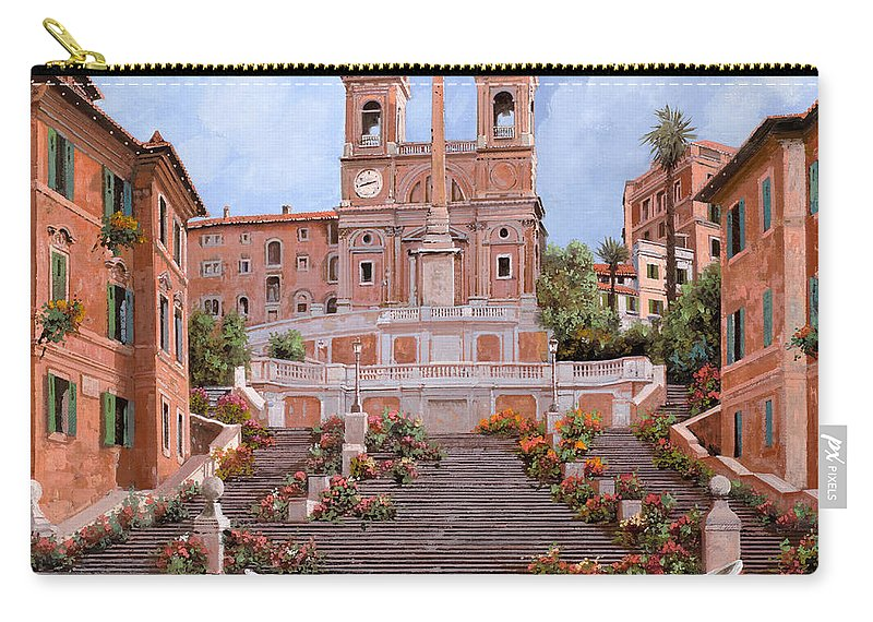 Rome Carry-all Pouch featuring the painting Rome-piazza Di Spagna by Guido Borelli