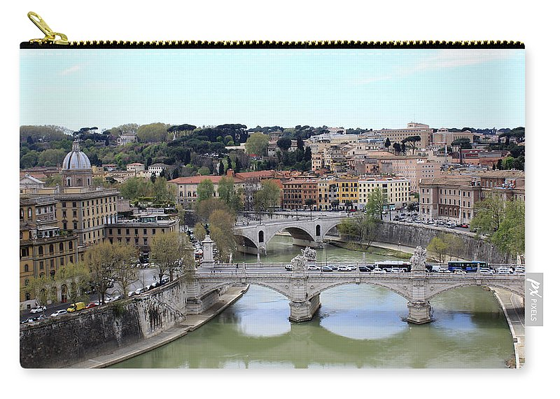Rome Carry-all Pouch featuring the photograph Rome River by Munir Alawi