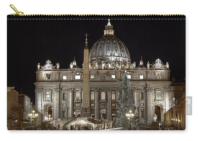 St. Peter's Square Carry-all Pouch featuring the photograph Rome Vatican by Joana Kruse