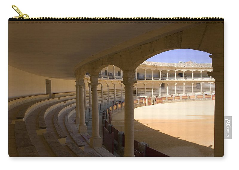 Bullfight Carry-all Pouch featuring the photograph Ronda Bullring The Real Maestranza De Caballeria by Mal Bray