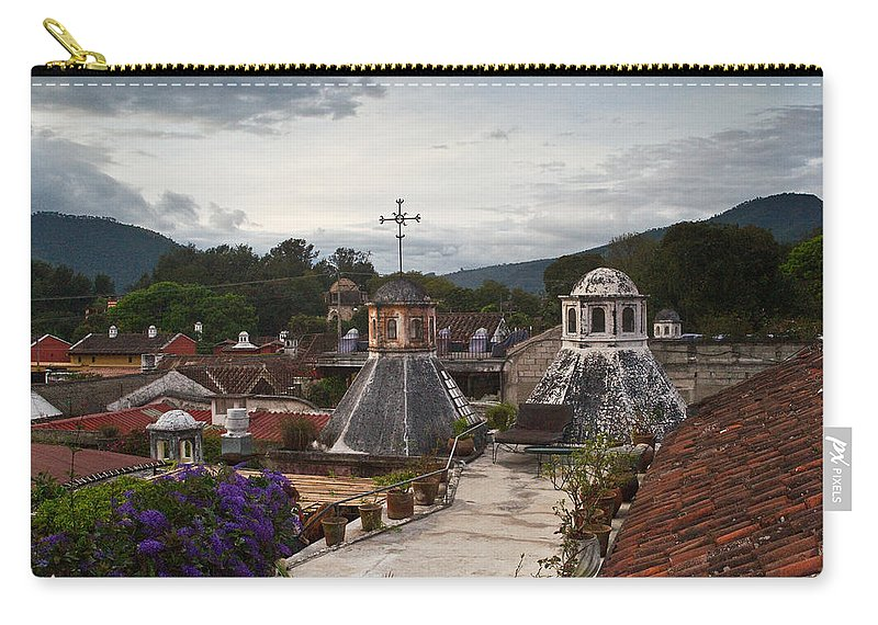 Panza Verde Carry-all Pouch featuring the photograph Roof Top View 6 by Douglas Barnett