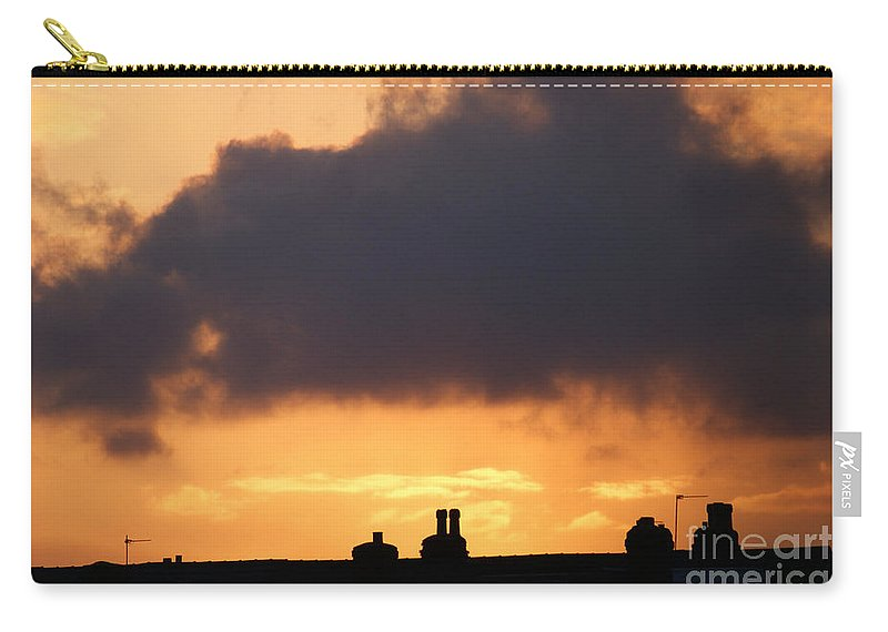 Sunset Carry-all Pouch featuring the photograph Rooftop Sunset by Carol Lynch