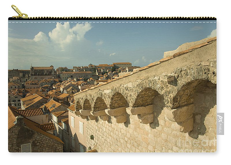 Dubrovnik Carry-all Pouch featuring the photograph Rooftops Of Dubrovnik by Rob Hawkins