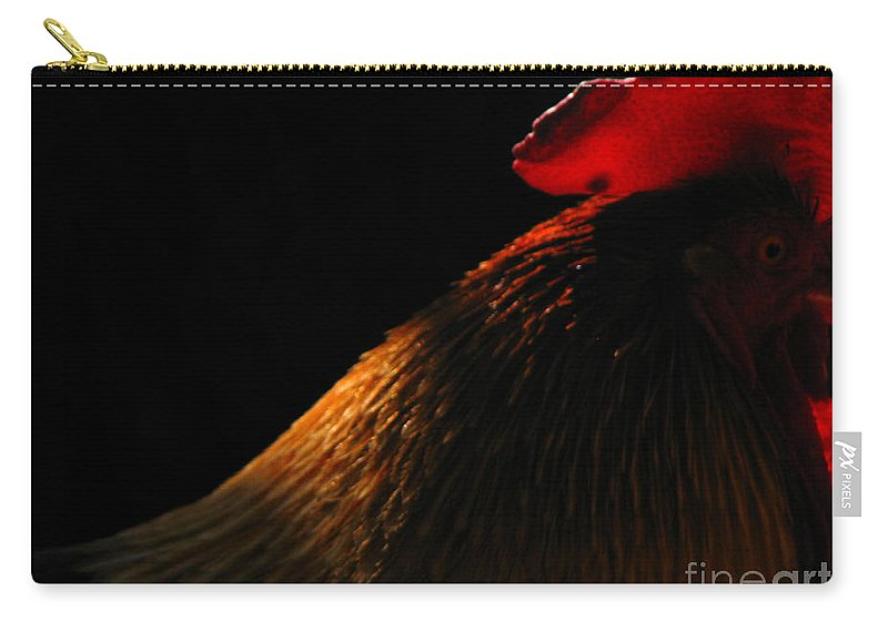 Rooster Carry-all Pouch featuring the photograph Rooster by Amanda Barcon
