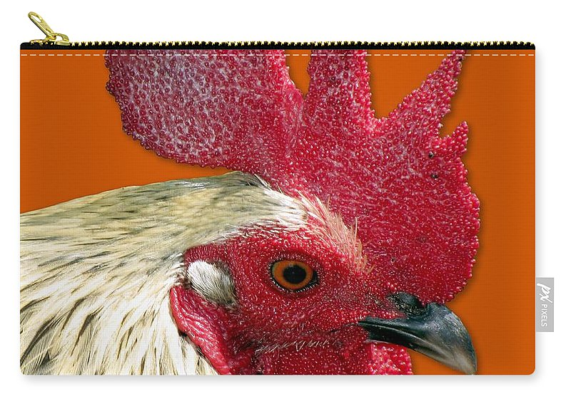 Rooster Carry-all Pouch featuring the photograph Rooster by Bob Slitzan