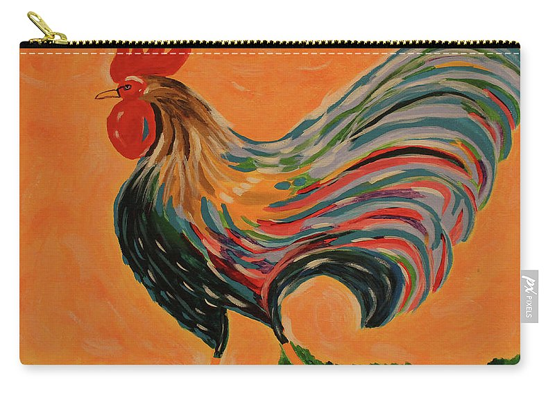 Rooster Carry-all Pouch featuring the painting Rooster by Jennifer C Griffen
