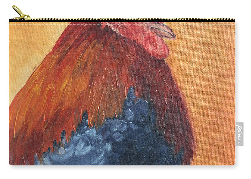 Animal Carry-all Pouch featuring the painting Rooster by Todd Blanchard