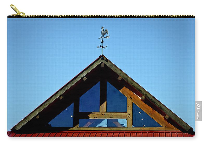 Rooster Carry-all Pouch featuring the photograph Rooster Weather Vane by Teresa Mucha