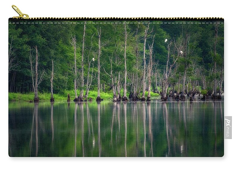 Landscape Carry-all Pouch featuring the photograph Roosting Egrets by David Cutler
