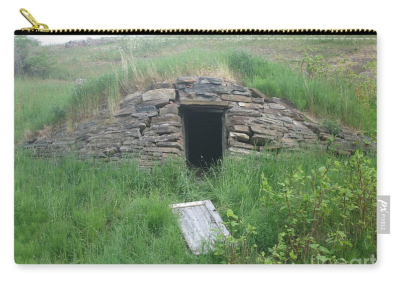 Photograph Cellar Old Green Newfoundland Carry-all Pouch featuring the photograph Root Cellar by Seon-Jeong Kim
