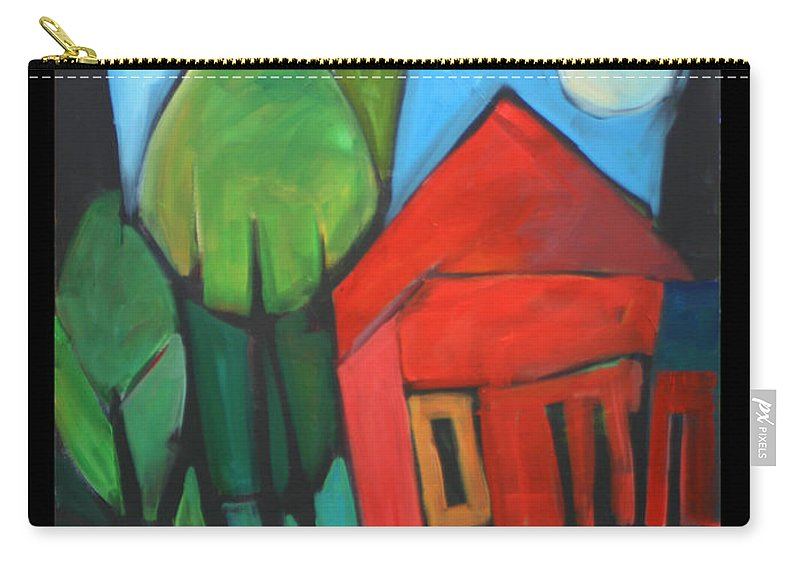 Trees Carry-all Pouch featuring the painting Root Cellar by Tim Nyberg