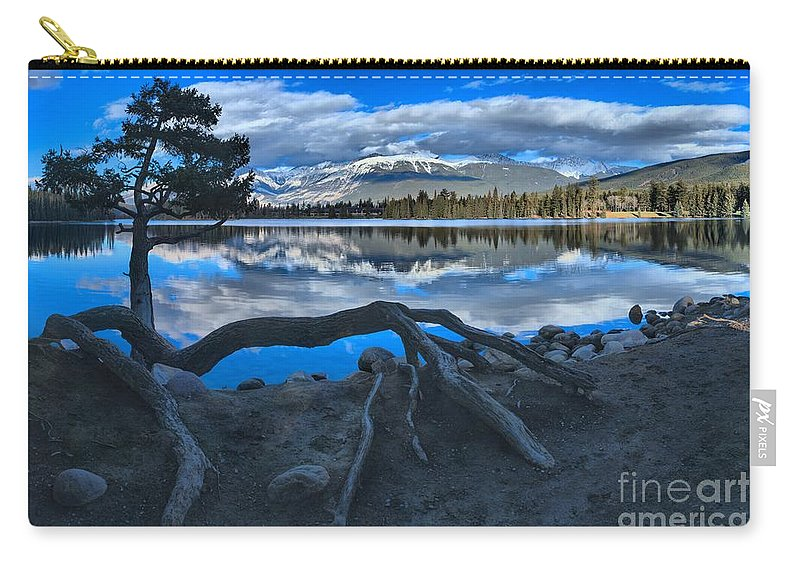 Lake Beauvert Carry-all Pouch featuring the photograph Roots On The Edge Of Beauvert by Adam Jewell