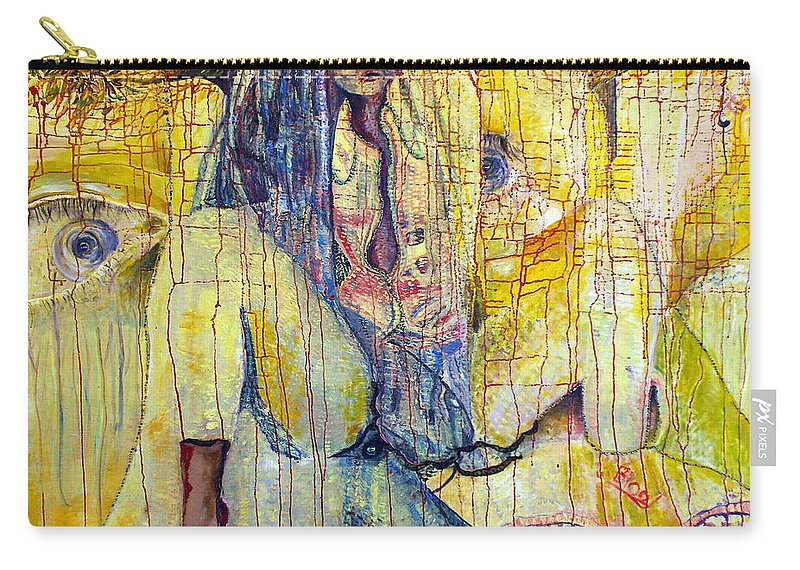 Portrait Carry-all Pouch featuring the painting Roots by Peggy Blood