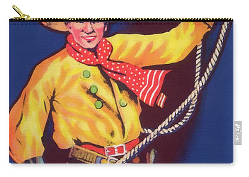 Fruit Carry-all Pouch featuring the photograph Roper Vintage Fruit Packing Crate Label by Daniel Hagerman
