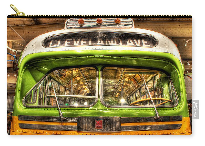 King Kong Carry-all Pouch featuring the photograph Rosa Parks Bus Dearborn Mi by Nicholas Grunas