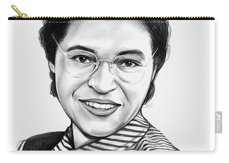 Rosa Parks Carry-all Pouch featuring the drawing Rosa Parks by Greg Joens