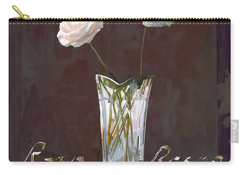Rasa Carry-all Pouch featuring the painting Rosa Rosae by Guido Borelli