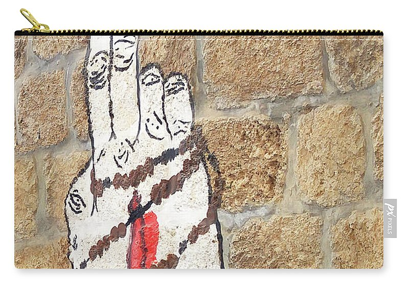 Rosary Prayer Carry-all Pouch featuring the photograph Rosary by Munir Alawi