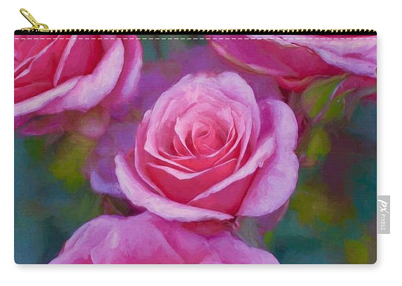 Floral Carry-all Pouch featuring the photograph Rose 344 by Pamela Cooper