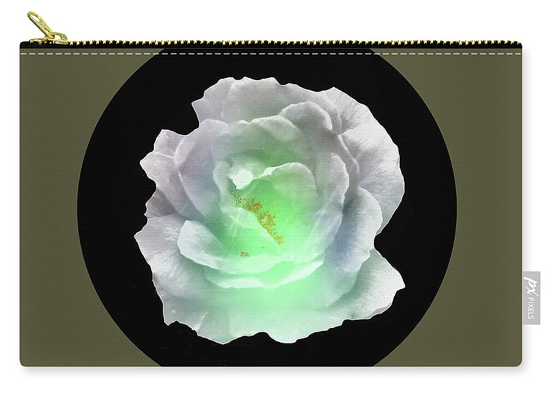 Abstract Carry-all Pouch featuring the digital art Rose 8-4 by John Krakora
