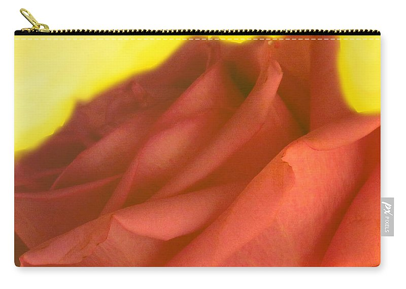 Rose Carry-all Pouch featuring the photograph Rose At Sunset by Ian MacDonald