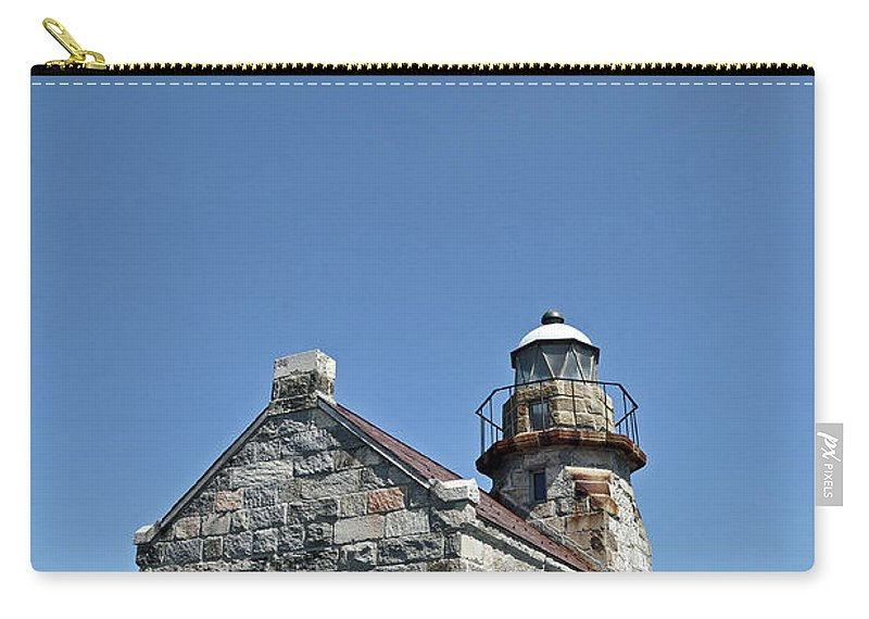 Rose Blanche Carry-all Pouch featuring the photograph Rose Blanche Lighthouse II by Colleen English