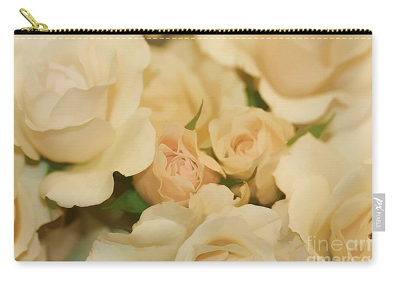 White Carry-all Pouch featuring the photograph Rose Bouquet by Deborah Benoit