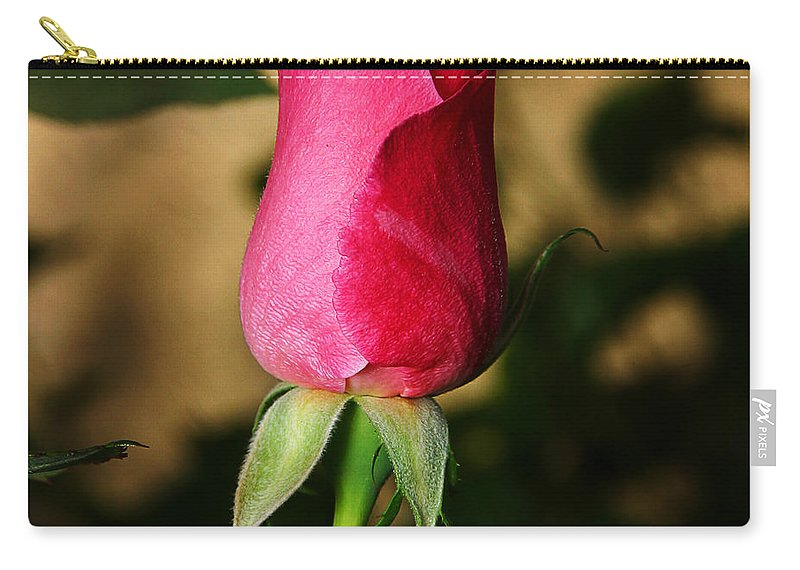 Rose Carry-all Pouch featuring the photograph Rose Bud by Anthony Jones