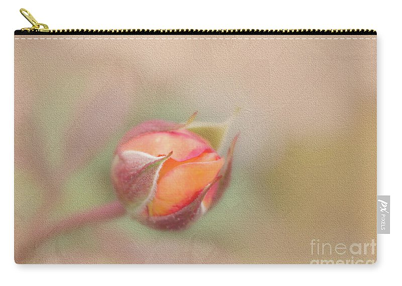 Rose Carry-all Pouch featuring the photograph Rose Bud by Francesca Winspeare