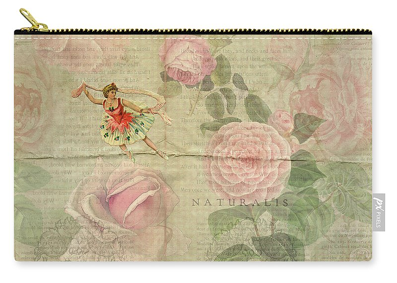 Dancer Carry-all Pouch featuring the digital art Rose Dancer by Peggy Collins