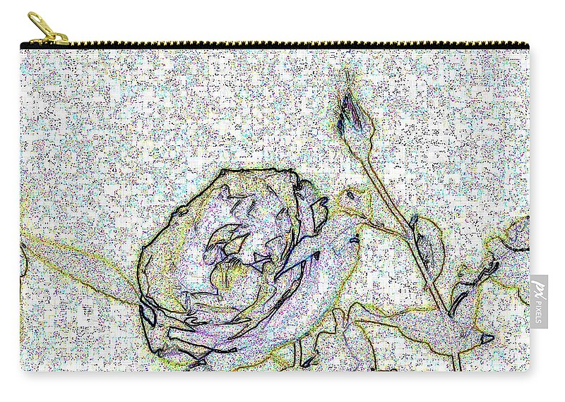 Rose Carry-all Pouch featuring the photograph Rose For U by Tim Allen