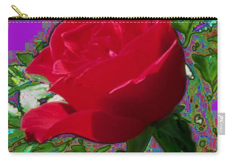 Rose Carry-all Pouch featuring the photograph Rose For You by Tim Allen